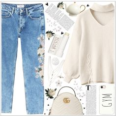 style by lena-volodivchyk on Polyvore featuring moda, MANGO, Gucci, Poporcelain, Ettika, Casetify, Therapy, Abigail Ahern, Menu and A by Amara