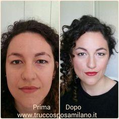 #trucco  #sposa  e #parrucco  prima e dopo
