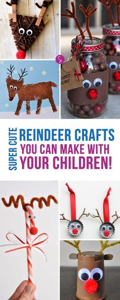 LOVE these reindeer crafts! So many great ideas for my Rudolph loving kiddos to make this Christmas! Thanks for pinning!!