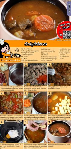 Gulaschsuppe Today a delicious goulash soup! The goulash soup video is easy to find using the QR code :] soup Good Healthy Recipes, Vegetarian Recipes, Cooking Recipes, Goulash Soup Recipes, Vegetable Soup Healthy, Hungarian Recipes, Recipe Today, No Cook Meals, Food Hacks
