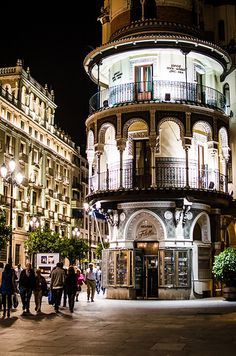 Sevilla Spain----so pretty at night walking from tapa bar to tapa bar....ms