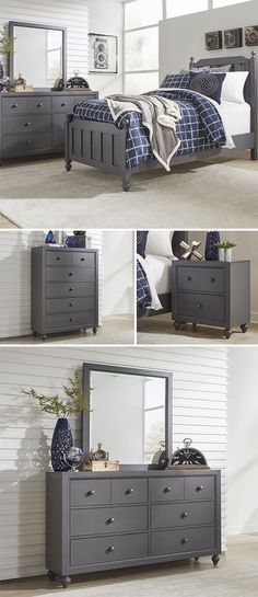Your child's bedroom should be the perfect place for them to thrive. With their bun feet, round knobs, and panel accents, these pieces feature wood detailing for plenty of cottage style personality. The Cottage View collection is a great option if you are looking for Transitional Cottage furniture in the Memphis TN, Southaven MS, area. #shopgahs #kidsroom #kidsbed #kidsroomdecor #kidsroomideas