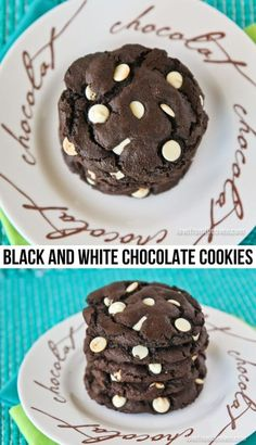 Black And White Chocolate Cookie Recipe. These are just like the ones from my favorite bakery, and they are super easy to make at home.