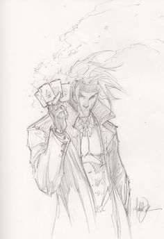 Gambit sketch by Michael Turner, in Brian Stryker's Gambit Convention Sketches (M to Z) Comic Art Gallery Room Comic Book Artists, Comic Book Characters, Marvel Characters, Comic Artist, Comic Character, Comic Books Art, Marvel Movies, Disney Characters, Michael Turner