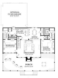 Cabin Style House Plan - 2 Beds 2.00 Baths 1727 Sq/Ft Plan #137-295 Floor Plan - Main Floor Plan - Houseplans.com