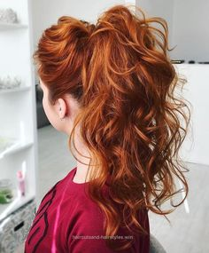 Check out this Curly Ponytail For Long Hair  The post  Curly Ponytail For Long Hair…  appeared first on  Haircuts and Hairstyles .