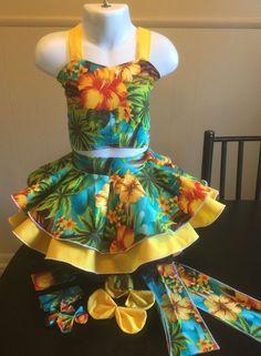 National Pageant Casual Wear OOC Tropical Wear Beach Wear Summer Wear 3 5T | eBay