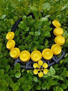 ⭐Necklace ⭐ Uniquehandmade  Vintage buttons Yellow