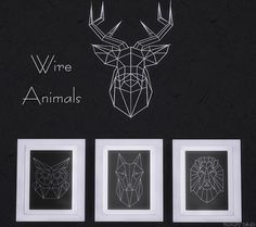 Helen Sims: Wire Animals Set • Sims 4 Downloads