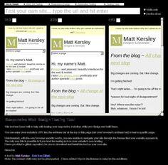 Responsive Web Design Testing Tool http://mattkersley.com/responsive/