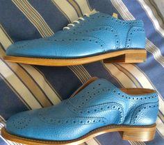 Blue Brogues, Men Dress, Dress Shoes, Cole Haan, Oxford Shoes, Fashion, Moda, Fashion Styles, Fashion Illustrations