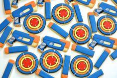 Nerf Gun Cookies by Kelley Hart Custom Cookies