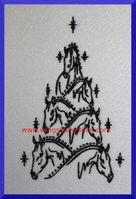 Christmas Horses Digitized Machine Embroidery No by WingsicalWhims