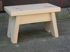 Pine Step Stool / Unfinished / Foot Stool / Small Bench