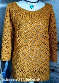 Crochet Jumper, Knit Crochet, Chrochet, Crochet Fashion, Knit Patterns, Crochet Clothes, Free Pattern, Stitch, Knitting
