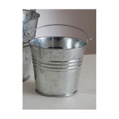 ConsumerCrafts Product Galvanized Metal Pail with handle-3 3/4 inch