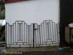 Art Deco Iron Gates For Sale in Templeglantine, Limerick from tudlytops Metal Gates, Wrought Iron Gates, Iron Gates For Sale, Grill Door Design, Material For Sale, Porch Columns, White Picket Fence, Front Gates, Diy Porch