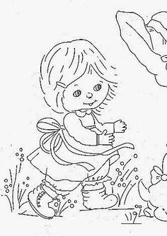 desenhos da ruth morehead para pintar em fralda de menina