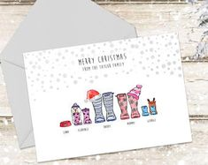 Personalised family artwork for a gift less ordinary by AimeeRoseDesign Merry Christmas, Family Christmas Cards, Holiday Cards, Christmas Decor, Christmas Ideas, Christmas Activities, Christmas 2017, Xmas Cards, Handmade Christmas