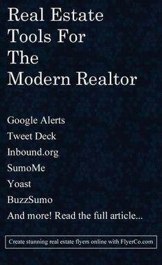 Must Have Marketing Tools for the Modern Real Estate Agent. #RealEstate #Marketing #SocialMedia #realestatemarketingideas