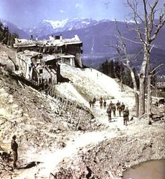 Hitlers Berghof House after it was shelled by the British,then burned by fleeing SS troops.