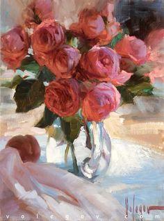 """Austin roses"", oil on canvas, 2014. Artist: Vladimir Volegov"