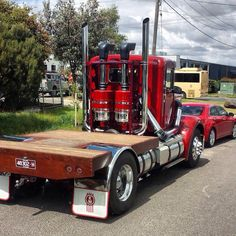 Check out this clean Kenworth! Dually Trucks, Peterbilt Trucks, Big Rig Trucks, Mini Trucks, New Trucks, Diesel Trucks, Custom Trucks, Cool Trucks, Pickup Trucks