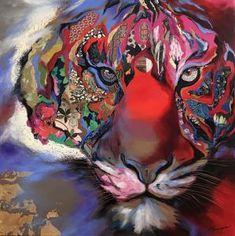 Camouflage by Annabelle Marquis 30 x 30 Mixed Media on canvas Collage Art Mixed Media, Mixed Media Canvas, African Animals, African Art, A Level Art, Marquis, Lions, Camouflage, Cambridge Igcse