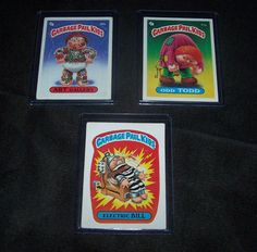 1985 Garbage Pail Kids Series 1 Odd TODD #71a ART Gallery #80b Electric BILL #4