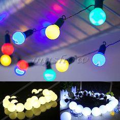 5M FESTOON GLOBE BULBS OUTDOOR GARDEN PARTY WEDDING FAIRY STRING LIGHTS, 20 LEDS
