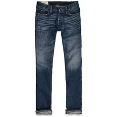 Hollister Co Hollister Classic Straight Jeans (100 BRL) ❤ liked on Polyvore featuring men's fashion, men's clothing, men's jeans, jeans, mens pants, hollister and menswear