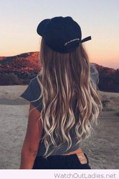 Ombre hair with a cap