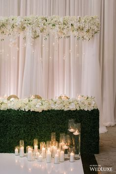 Floral backdrop wedding - Sweetheart table wedding - Floral arrangements wedding - Head table we Floral backdrop wedding, Sweetheart table wedding, Floral arrangements wedding, Head table wedding, Flower backdrop wedd. Head Table Wedding, Wedding Stage, Our Wedding, Wedding Simple, Garden Wedding, Wedding Hall Decorations, Backdrop Wedding, Wedding Draping, Bride Groom Table
