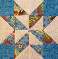 Quilt Block of the Month 2013 #16 free pattern on The Quilt Ladies at http://www.thequiltladies.com/2013/08/quilt-block-of-month-16.html