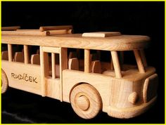 Autobus RTO, hračka Wooden Toys, Car, Wood Toys, Automobile, Vehicles, Cars, Autos