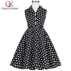 >> Click to Buy << Grace Karin 2017 Flower Girl Dresses for Weddings Party Children Kids Girls First Communion Dress Vintage Polka Dots Dress #Affiliate