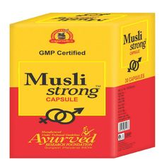 Musli Strong capsule is the best herbal remedy to increase stamina and vigor. It improves the blood circulation towards the organs and increases the desire in men.
