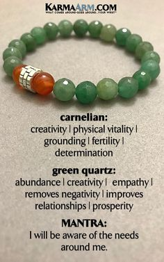 BEADED BRACELETS | Green #Quartz is also known attracts prosperity and success and to stimulate one's creativity.  ♛  #BEADED #Yoga #BRACELETS #Chakra #gifts  #Stretch #Womens #Mens #jewelry #Crystals #Energy #gifts #Handmade #Healing #Kundalini #Law #Attraction #LOA #Love #Mala #Meditation #prayer #Reiki #mindfulness #wisdom #Fashion #Fertility