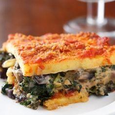 polenta portabella lasagna