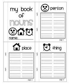 Free Nouns Mini Book - the teacher wife: all about nouns: a language arts unit. ELA 1st grade