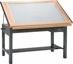 "Mayline Ranger Steel Four-Post Light Table, 48"" W x 37.5"" D (7734BLT Gray Base, Naturalist Top) by Mayline. $3149.99. Drawing Boards: Self-contained light box with translucent 1/8"" acrylic diffuser panel, 1/4"" clear glass and hardwood frame with Naturalist finish."