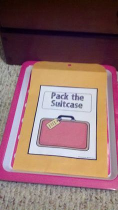 An idea to help determine importance and then summarize non-fiction with packing suitcases (group activity or independent with interaction)