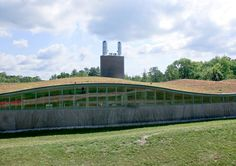 Emissions and undulating green roof at the Hotchkiss School