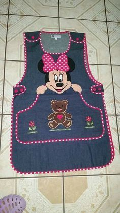 Imagen relacionada - My site Sewing For Kids, Baby Sewing, Sewing Crafts, Sewing Projects, Childrens Aprons, Cute Aprons, Denim Crafts, Sewing Aprons, Apron Designs