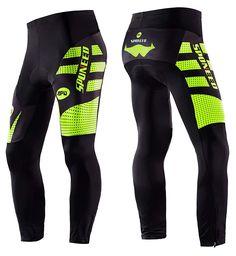 fb9a33554 Men's Bicycle Pants 4D Padded Road Cycling Tights MTB Leggings Outdoor  Cyclist Riding Bike Wear - Green Long - CX1277RUEYR
