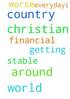 please christian around the world pray for my country - please christian around the world pray for my country to have its financial stable its getting worse everyday.i thank you. Posted at: https://prayerrequest.com/t/M44 #pray #prayer #request #prayerrequest