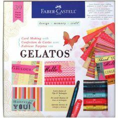 Card Making Kit With Gelatos Kit Faber Castell - Timbroscrapmania