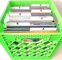 A to Z White Horizontal Over-Sized Tab LP Vinyl Record Dividers for LPs Album Organizers/Organization A-Z Alphabet Alphabetize Alphabetical Cards (Staggered Double-Sided Lettering) Lp Vinyl, Vinyl Records, Media Storage, Record Collection, Dividers, Lps, Storage Organization, Album, Lettering