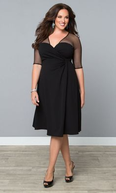 Plus Size Cocktail Party Dress. For inbetweenie and plus size fashion inspiration go to www.dressingup.co.nz.