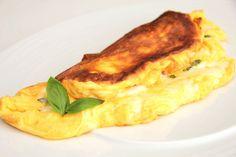 Habkönnyű sajtos omlett recept